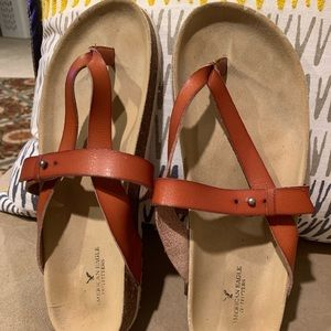 American Eagle women's leather thong sandals